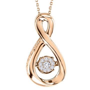 Infinity Dancing Diamond Pendants Jewelry 925 Silver Pendants